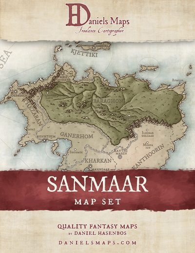 Cover fantasy map set